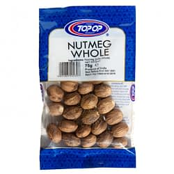 TOPOP NUTMEGS WHOLE 75g