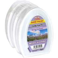 Sachets Gel Air Freshener Lavender 3 Pack