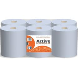 Active Blue Value Centrefeed Paper Tissue 6 Roll P