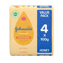 Johnsons Baby Honey Soap Value Pack 4x100g