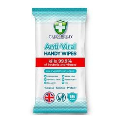 Green Shield Anti-Viral Handy Wipes 15s