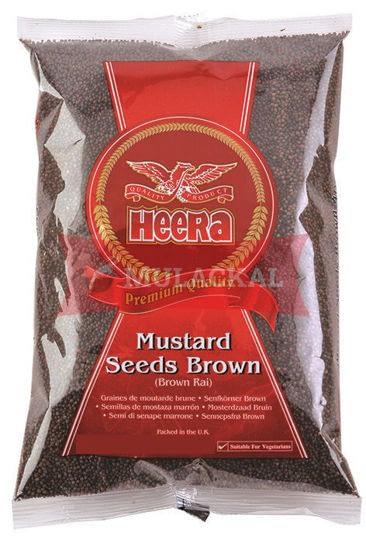 HEERA BROWN MUSTARD SEEDS 100G