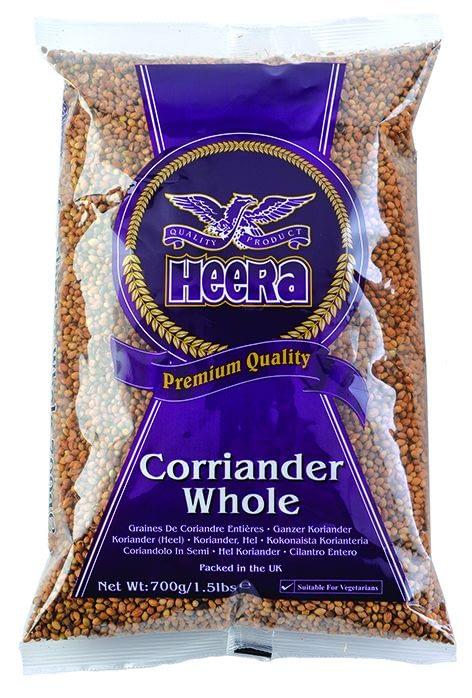 HEERA CORIANDER WHOLE BIG (DHANIYA WHOLE) 700G