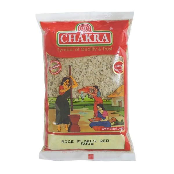 CHAKRA CHAKRA RED RICE FLAKES 500G