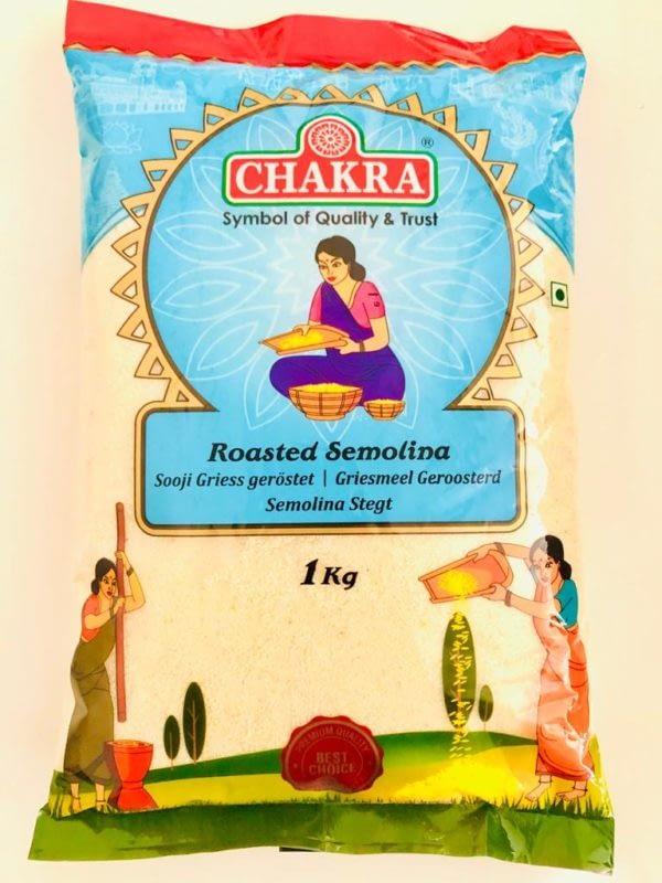 CHAKRA CHAKRA WHEAT RAVA (ROASTED SOOJI) 1KG