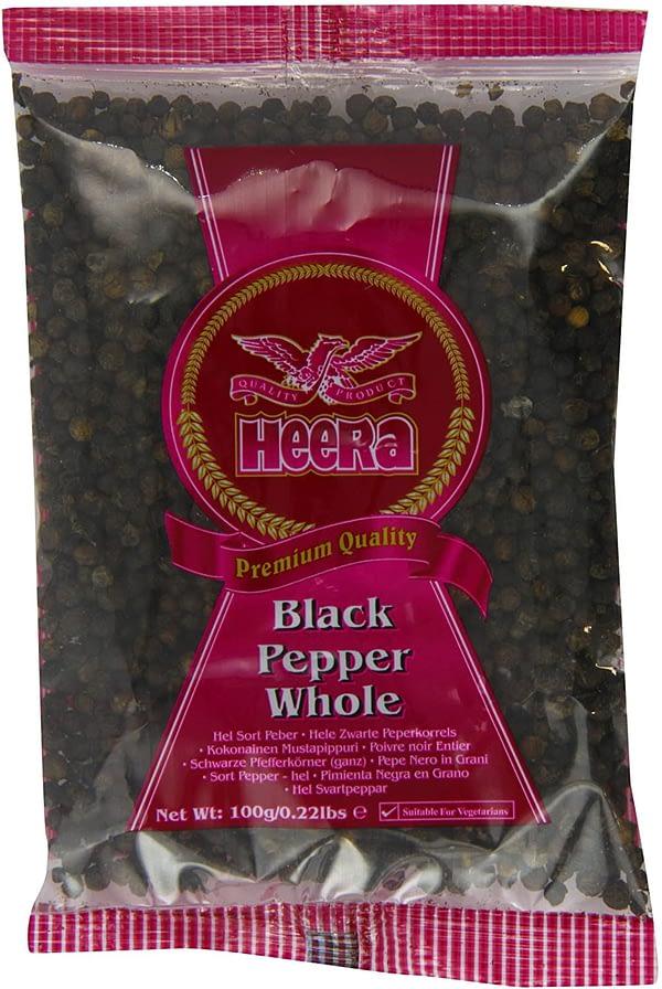 HEERA BLACK PEPPER WHOLE 100G